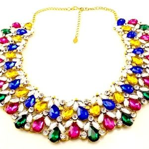 FANCY SIGNED JOAN RIVERS JEWEL TONE NECKLACE